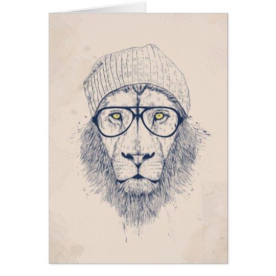 Cool lion card