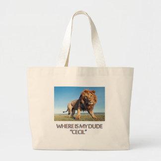 cool Lion designs Large Tote Bag