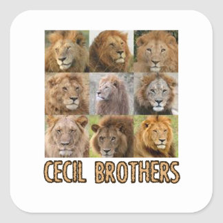 cool Lion designs Square Sticker