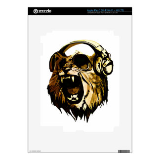 Cool Lion head with glasses and headphones iPad 3 Skin