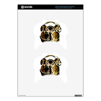 Cool Lion head with glasses and headphones Xbox 360 Controller Decal
