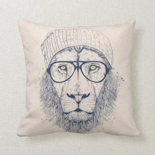 Cool lion throw pillow zazzle for Cool couch pillows