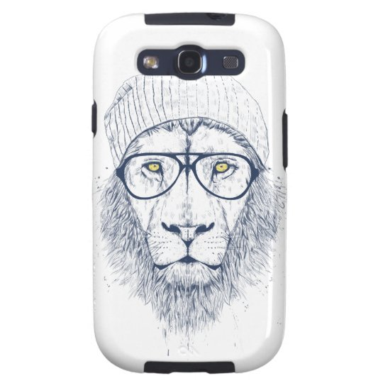 Cool lion (white) galaxy SIII case