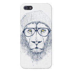 Cool Lion (white) Iphone Se/5/5s Cover at Zazzle