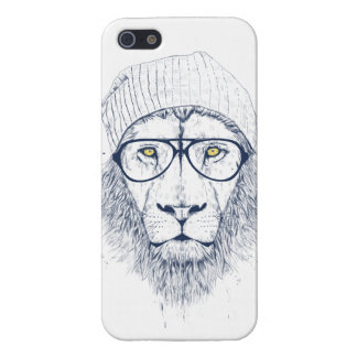 Cool lion (white) iPhone SE/5/5s cover