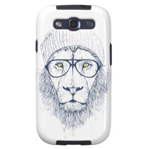 Cool lion (white) samsung galaxy SIII cases