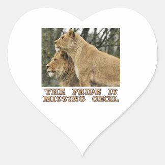 cool Lions designs Heart Sticker