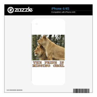 cool Lions designs iPhone 4 Decals