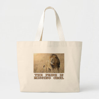cool Lions designs Large Tote Bag