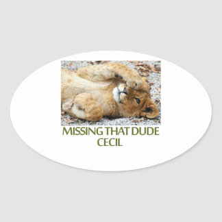 cool Lions designs Oval Sticker