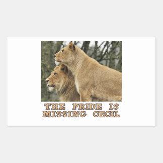 cool Lions designs Rectangular Sticker