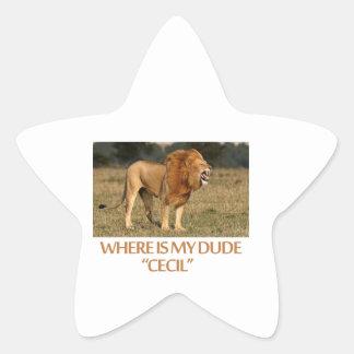 cool Lions designs Star Sticker