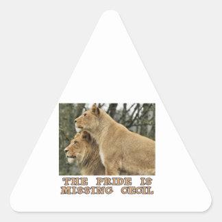 cool Lions designs Triangle Sticker
