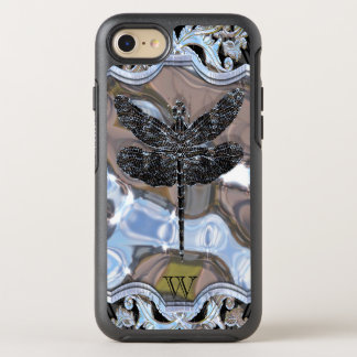 Cool Liquid Black Dragon Monogram OtterBox Symmetry iPhone 8/7 Case