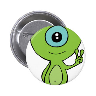 Cool Little Alien Pinback Button
