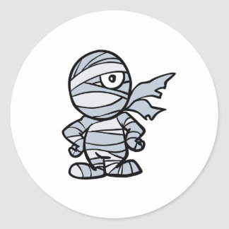 cool little mummy classic round sticker