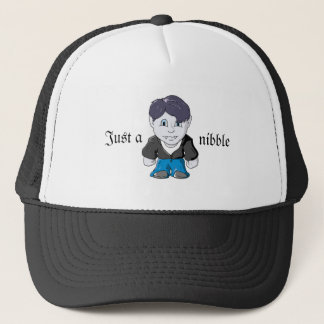 Cool Little Vamp in black leather jacket Trucker Hat