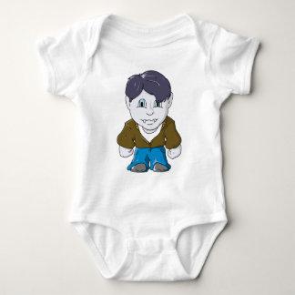 Cool Little Vamp in Brown Bomber Baby Bodysuit