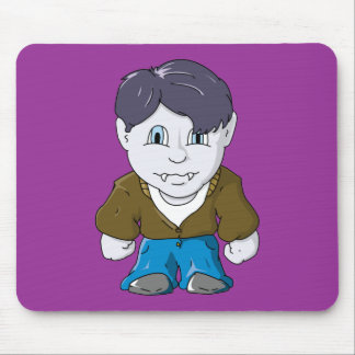 Cool Little Vamp in Brown Bomber Mouse Pad