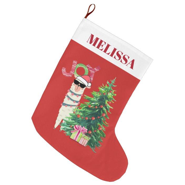 Personalised Llama Stocking Santa Sack