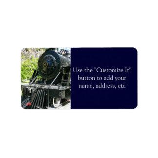 Cool Locomotive Train Label