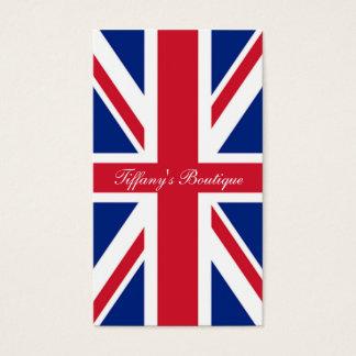 cool london fashion british flag union jack business card