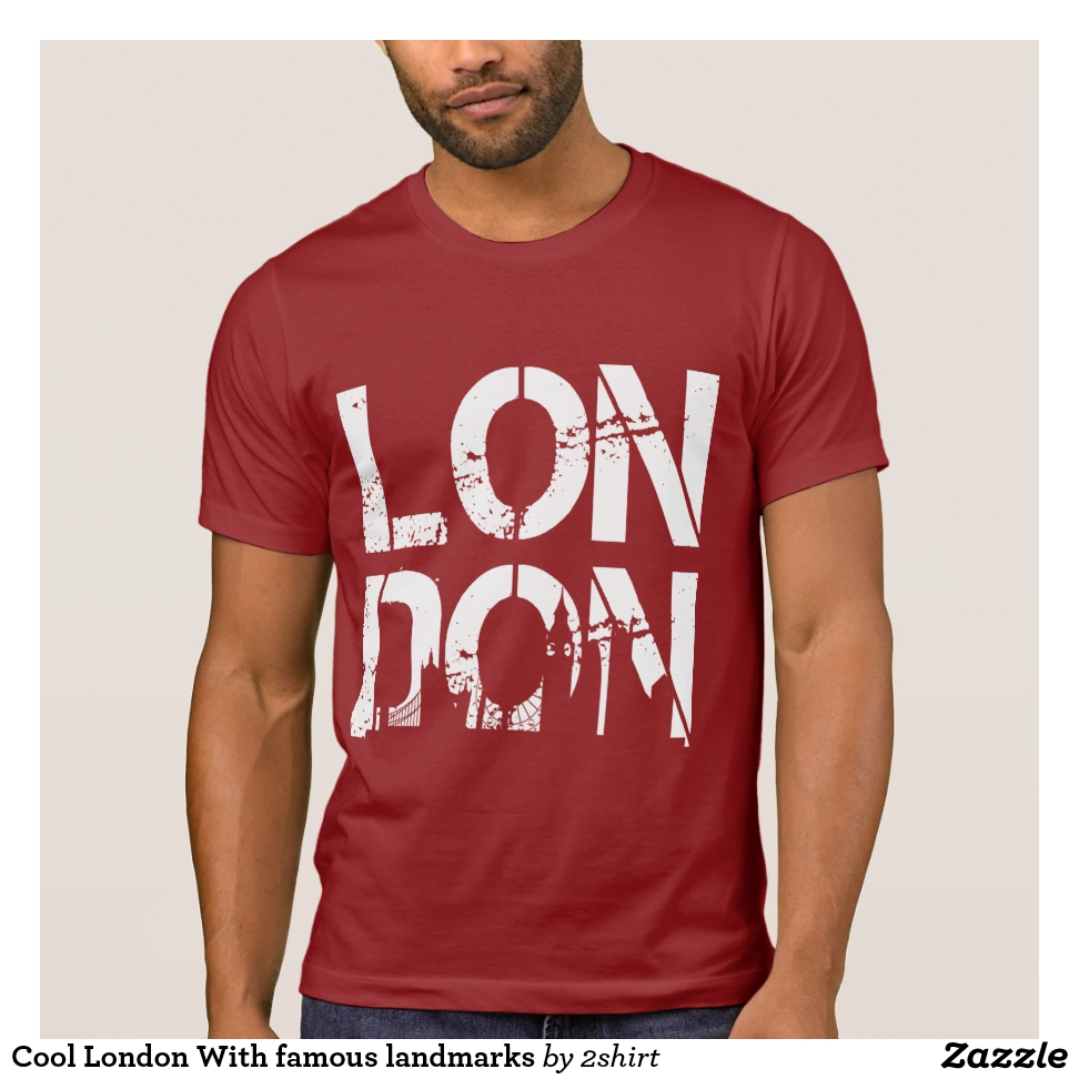 Cool London With famous landmarks T-Shirt - Casual Long-Sleeve Street Fashion Shirts