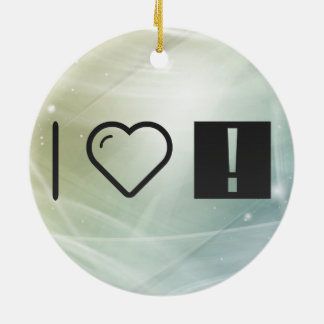Cool Long Exclamations Double-Sided Ceramic Round Christmas Ornament