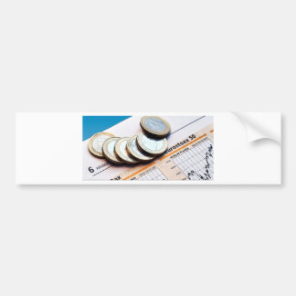 Cool Looking Euro Currency Coines Bumper Sticker
