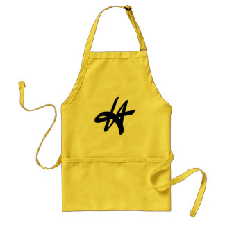 Cool Los Angeles typography BBQ apron for men
