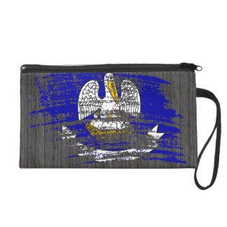 Cool Louisianan flag design Wristlet