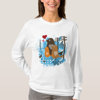 Cool Love Birds Artwork T-Shirt