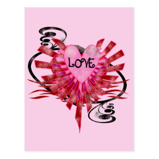 Cool Love Heart Postcards
