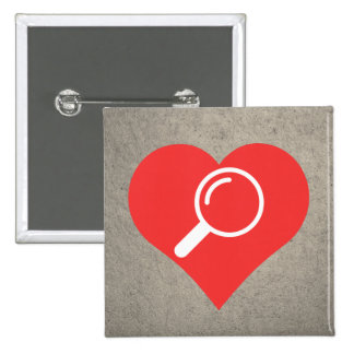 Cool Love Magnifiers 2 Inch Square Button