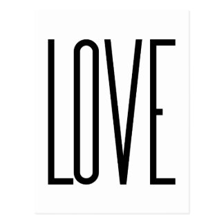 Cool Love – Minimalist Graphic Design Postcard