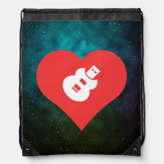 Cool Love Music Usb Drives Cinch Bags