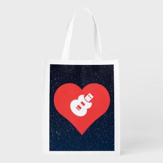 Cool Love Music Usb Drives Grocery Bag