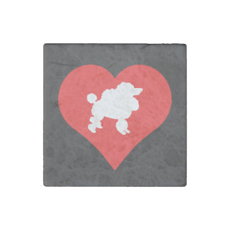 Cool Love Poodles Stone Magnet