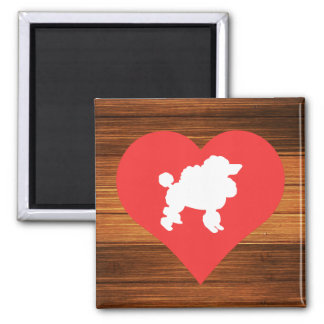 Cool Love Poodles 2 Inch Square Magnet