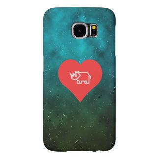 Cool Love Rhinoceros Samsung Galaxy S6 Cases