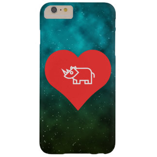Cool Love Rhinoceros Barely There iPhone 6 Plus Case