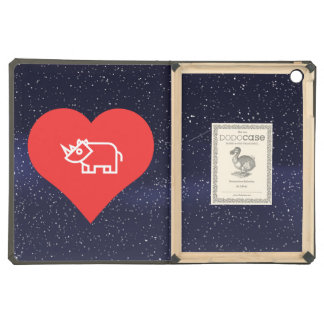 Cool Love Rhinoceros iPad Air Cover
