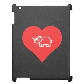 Cool Love Rhinoceros iPad Case