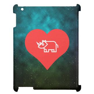 Cool Love Rhinoceros iPad Cover