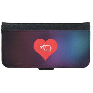 Cool Love Rhinoceros iPhone 6 Wallet Case