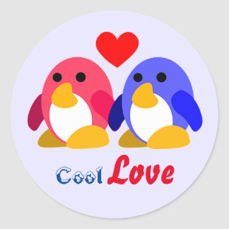 Cool Love Round Stickers