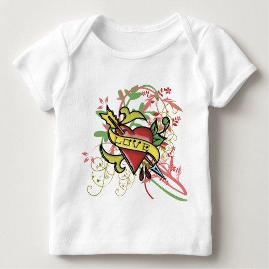 Cool Love Tattoo Baby T-Shirt