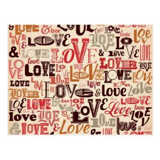 Cool Love Text Design Postcard