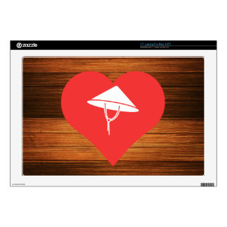 Cool Love Vietnamese Hats Decals For Laptops