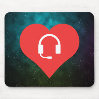 Cool Love Wireless Headsets Mouse Pad